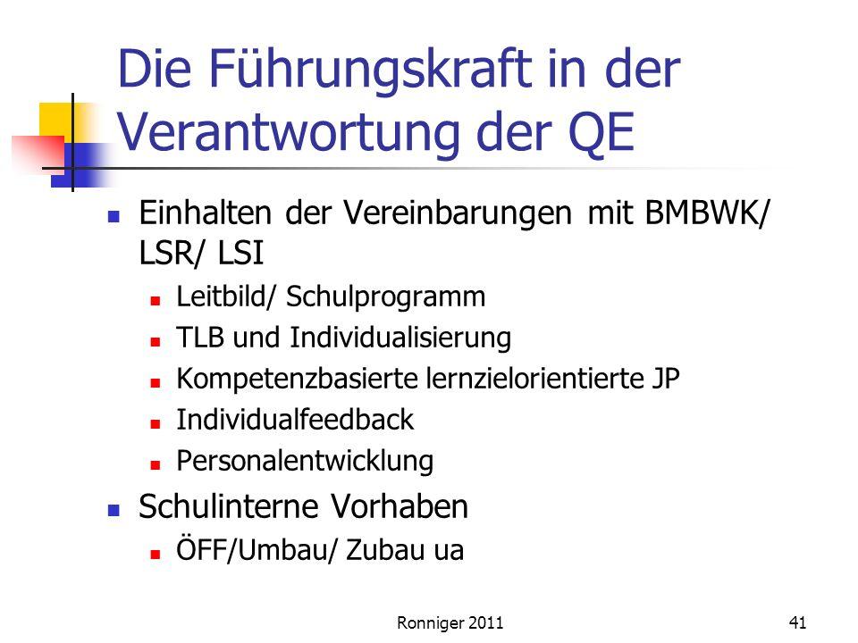Die Führungskraft in der Verantwortung der QE
