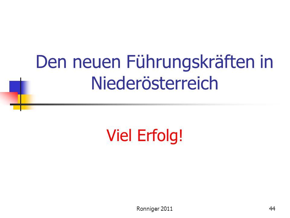 Den neuen Führungskräften in Niederösterreich