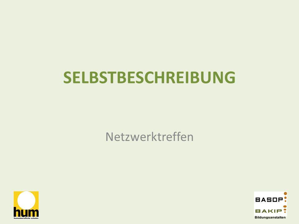 SELBSTBESCHREIBUNG Netzwerktreffen