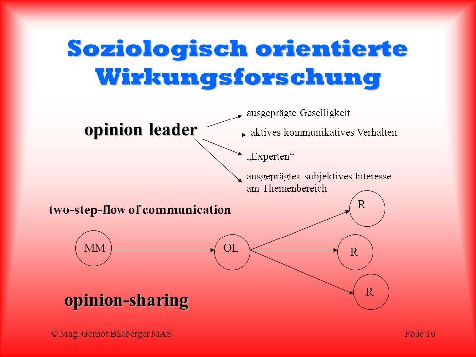 Soziologisch orientierte Wirkungsforschung
