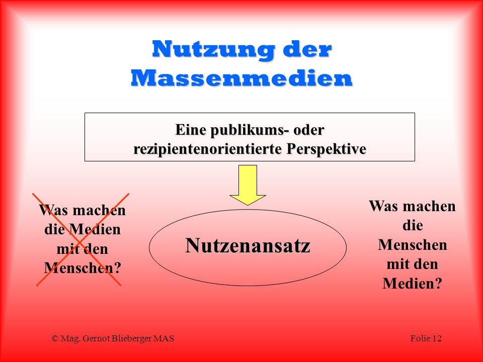 Nutzung der Massenmedien