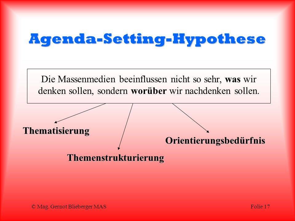Agenda-Setting-Hypothese