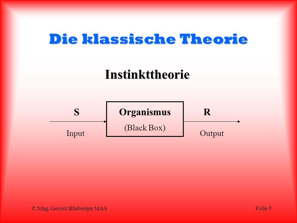 Die klassische Theorie