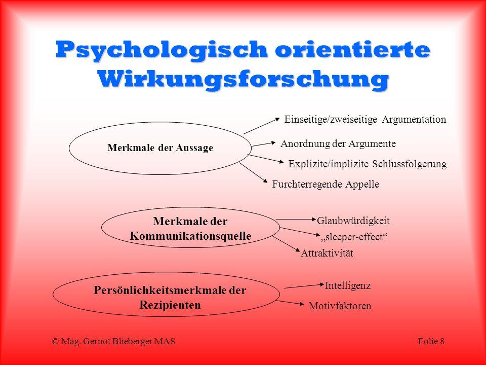 Psychologisch orientierte Wirkungsforschung