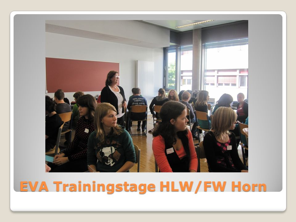 EVA Trainingstage HLW/FW Horn