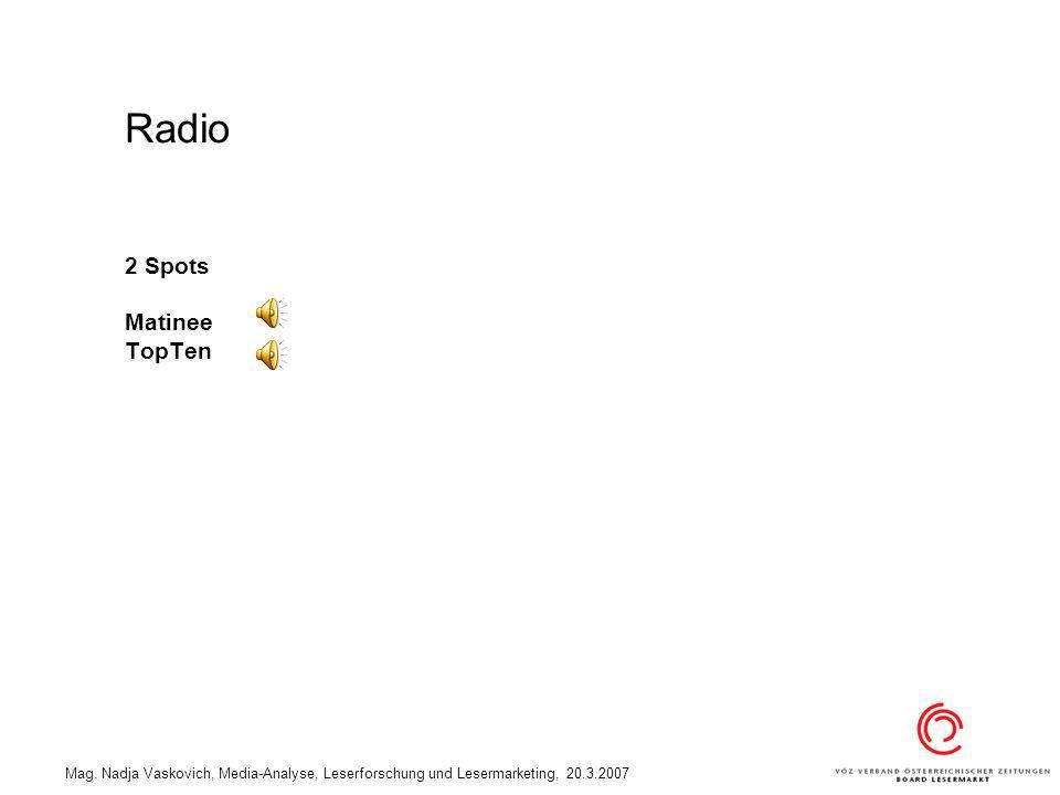 Radio 2 Spots Matinee TopTen