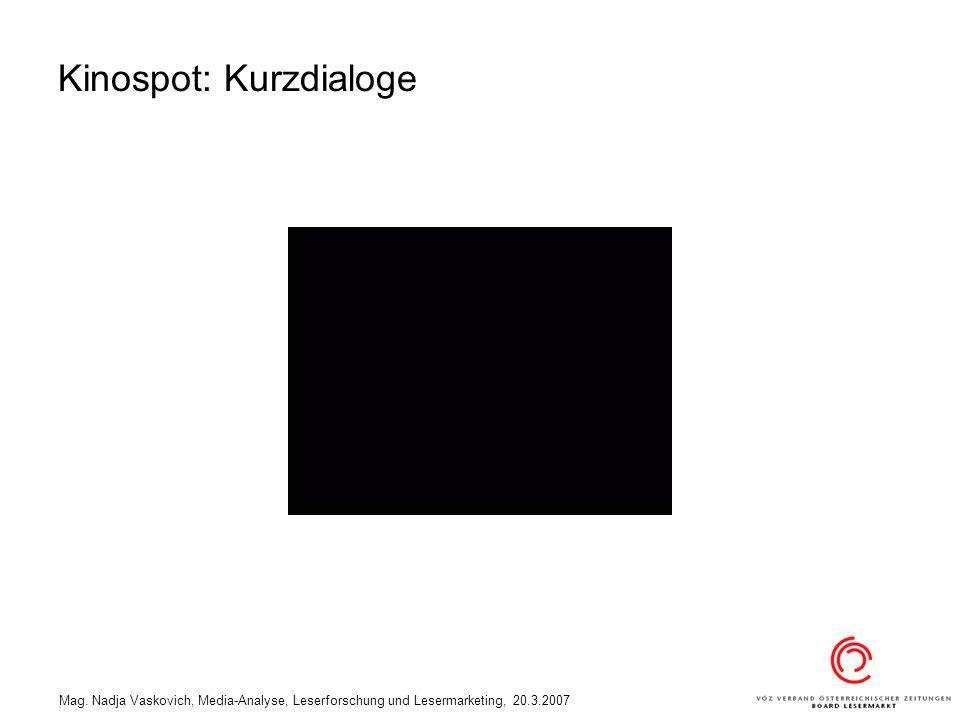 Kinospot: Kurzdialoge