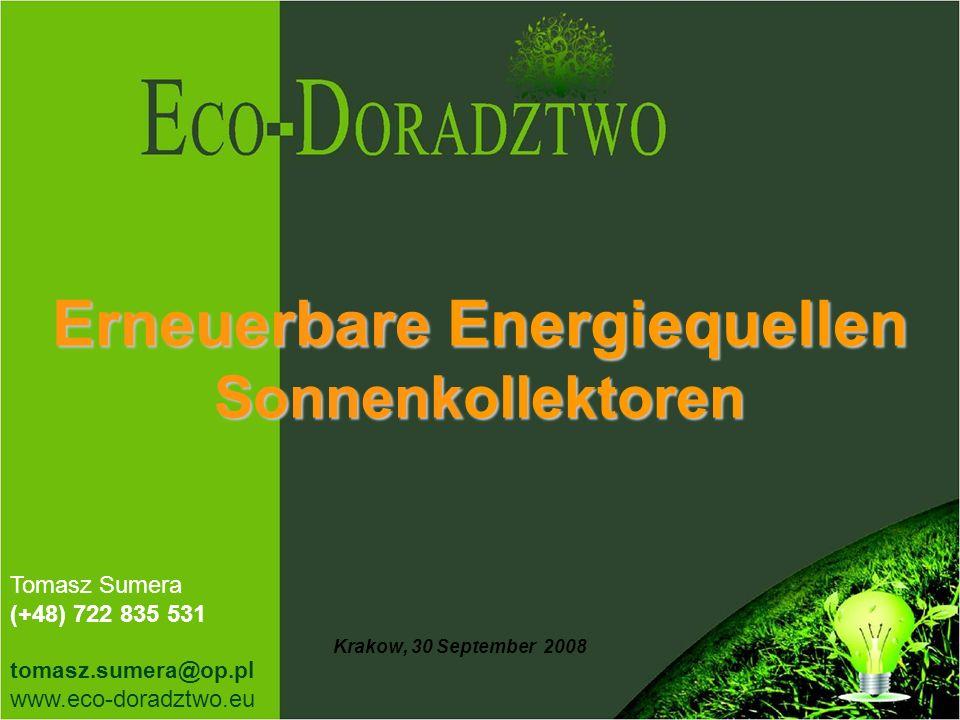 Erneuerbare Energiequellen Sonnenkollektoren