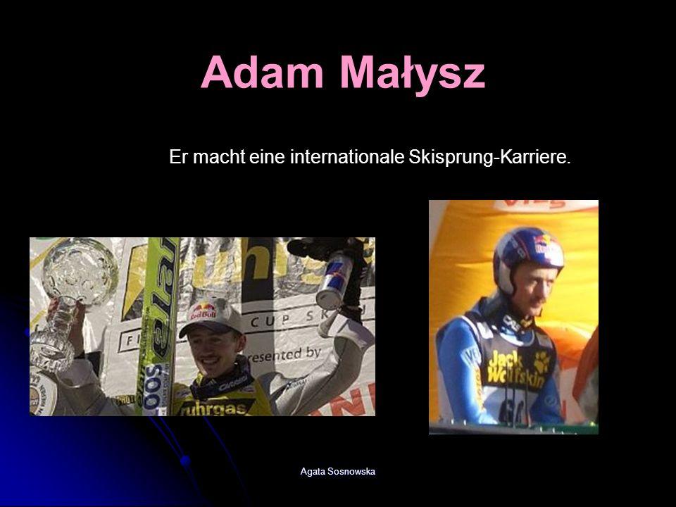 Adam Małysz Er macht eine internationale Skisprung-Karriere.