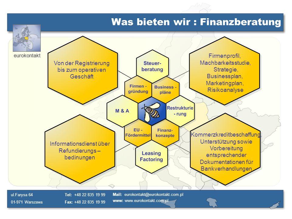 Was bieten wir : Finanzberatung