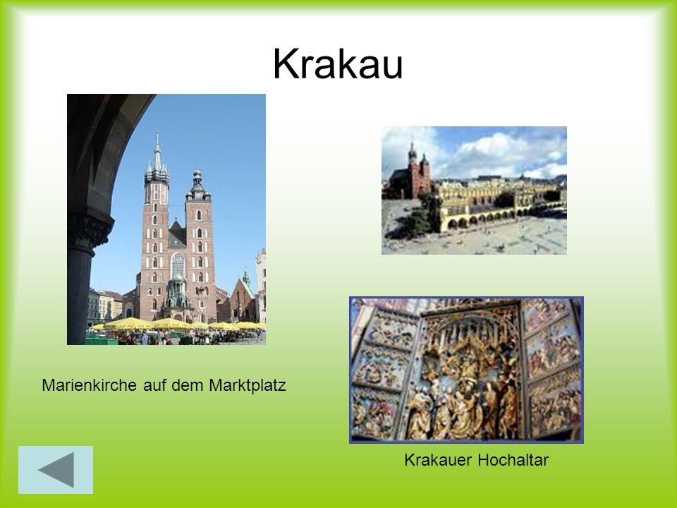 Krakau Marienkirche auf dem Marktplatz Krakauer Hochaltar