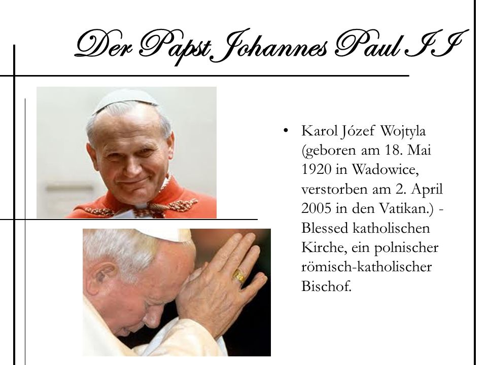 Der Papst Johannes Paul II