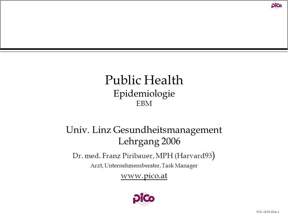 Public Health Epidemiologie EBM
