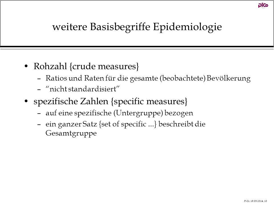 weitere Basisbegriffe Epidemiologie