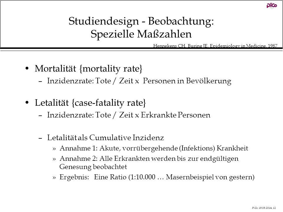 Studiendesign - Beobachtung: Spezielle Maßzahlen
