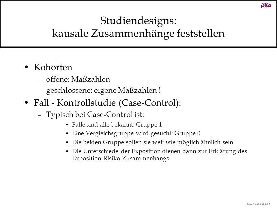 Studiendesigns: kausale Zusammenhänge feststellen
