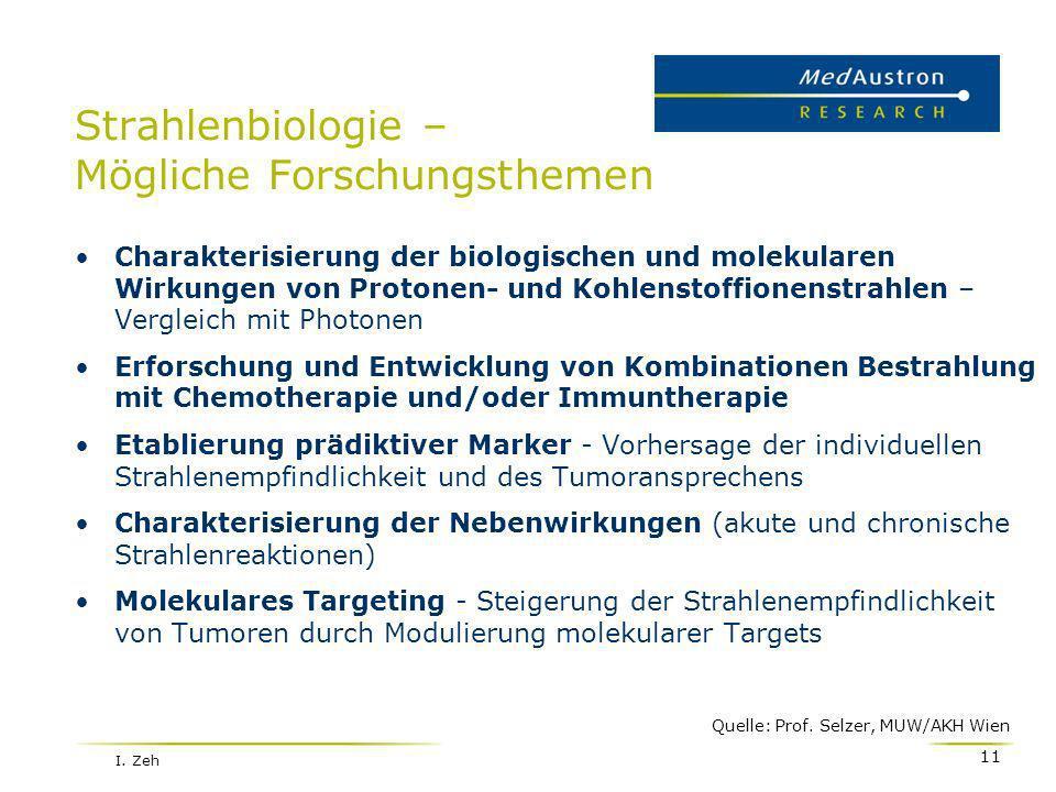 Strahlenbiologie – Mögliche Forschungsthemen