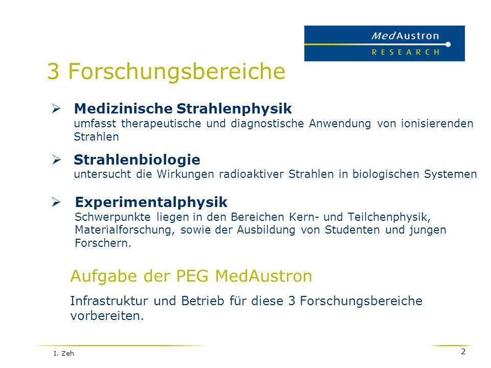 3 Forschungsbereiche Aufgabe der PEG MedAustron