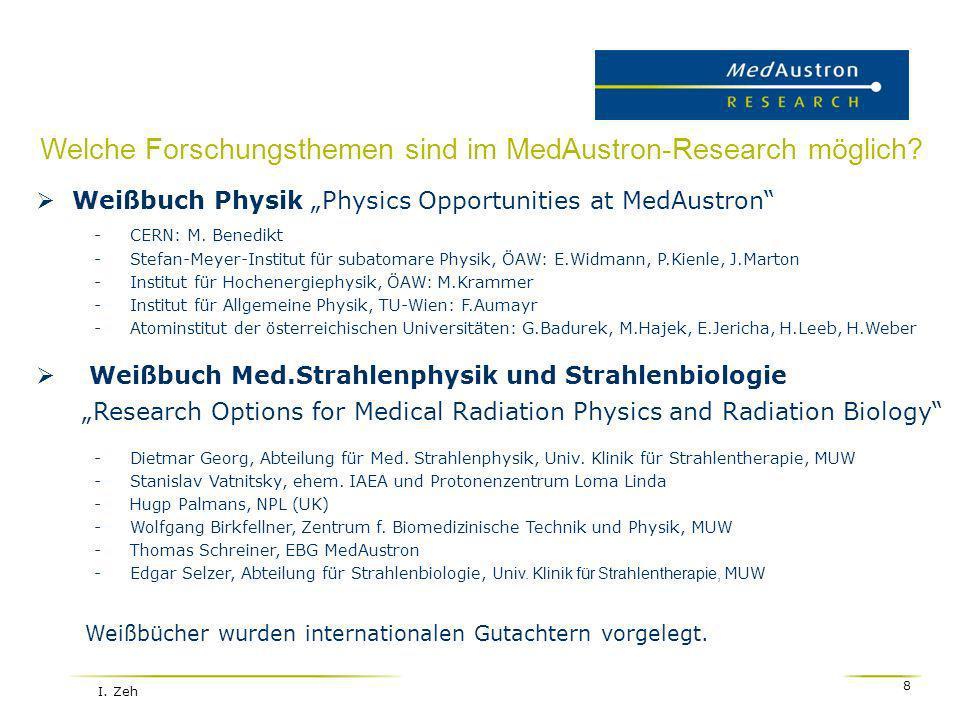Welche Forschungsthemen sind im MedAustron-Research möglich