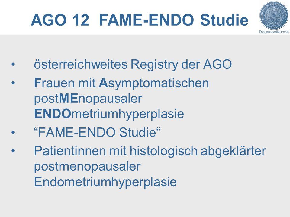 AGO 12 FAME-ENDO Studie österreichweites Registry der AGO