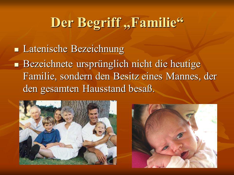 """Der Begriff """"Familie Latenische Bezeichnung"""