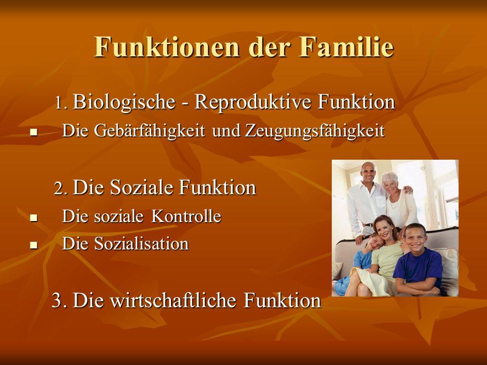 Funktionen der Familie
