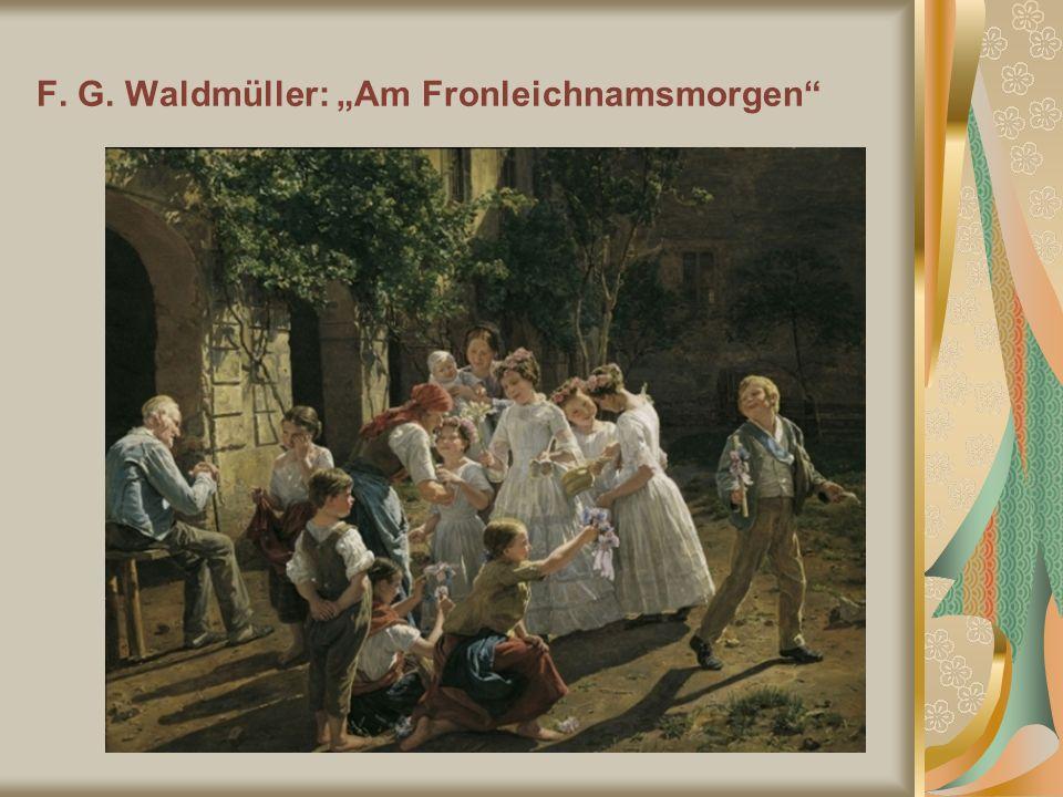 """F. G. Waldmüller: """"Am Fronleichnamsmorgen"""