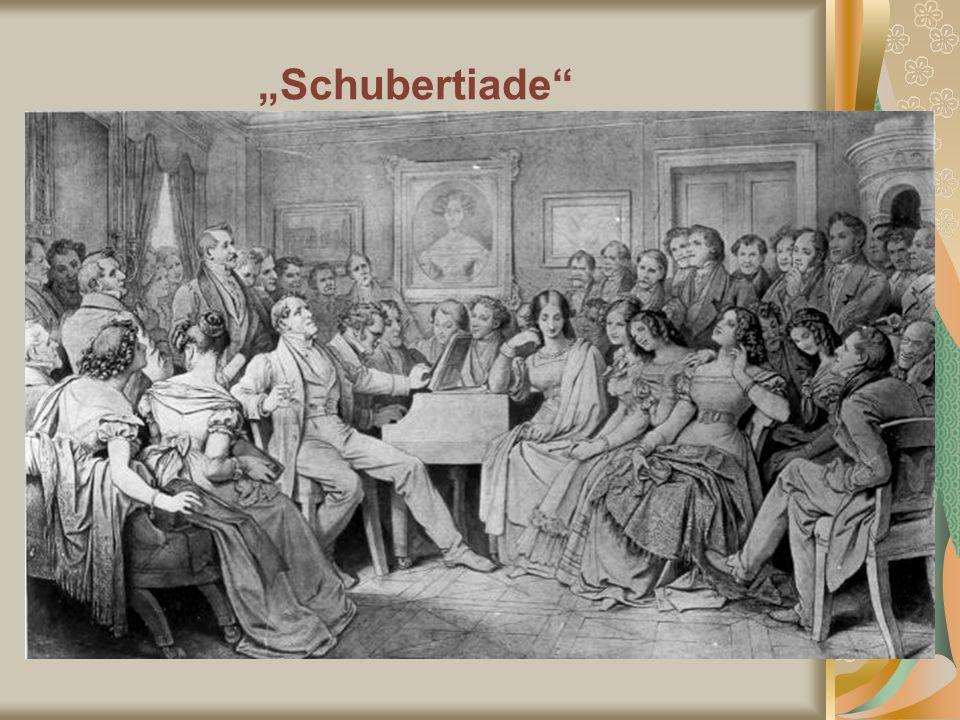 """""""Schubertiade Gemälde von Moritz von Schwind: Schubertiade :"""