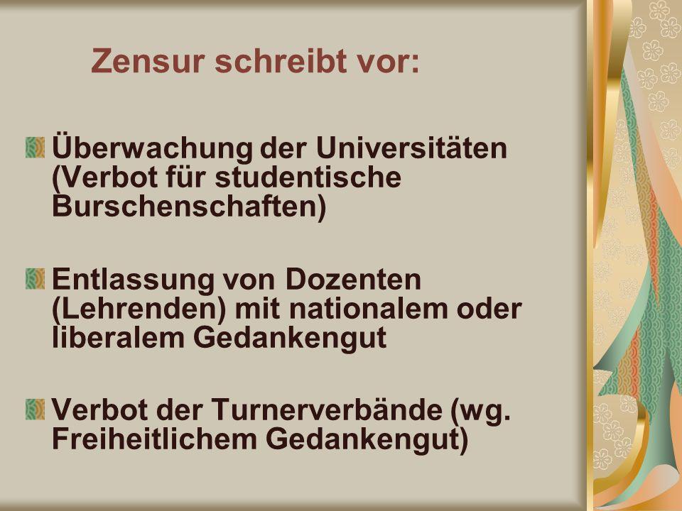 Verbot der Turnerverbände (wg. Freiheitlichem Gedankengut)