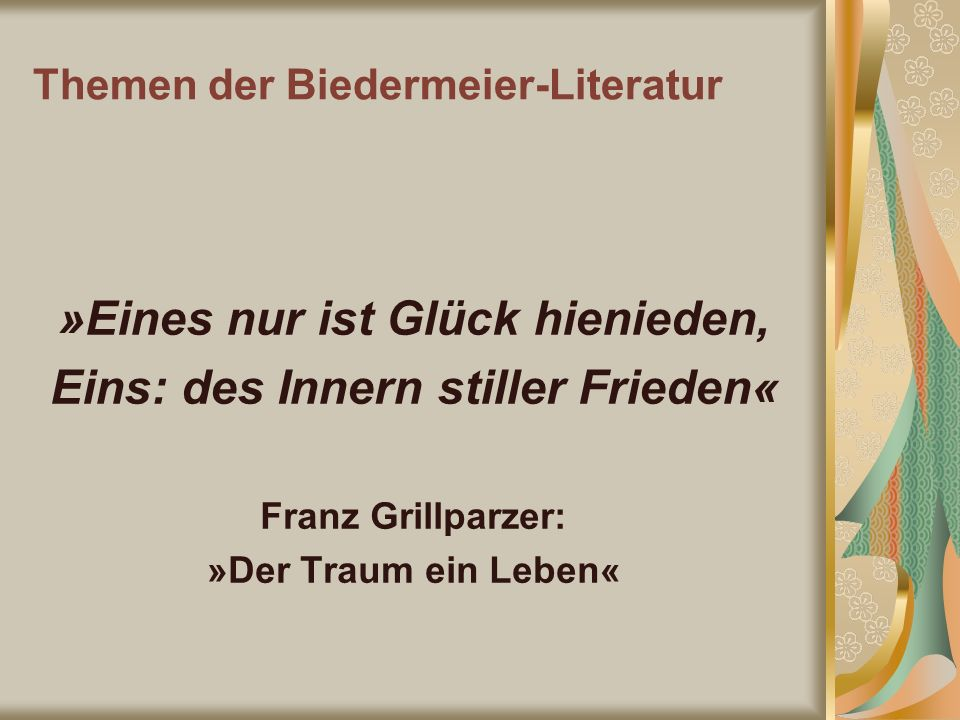 Themen der Biedermeier-Literatur