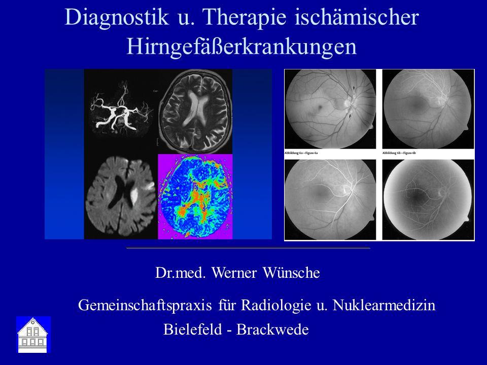 Diagnostik u. Therapie ischämischer Hirngefäßerkrankungen
