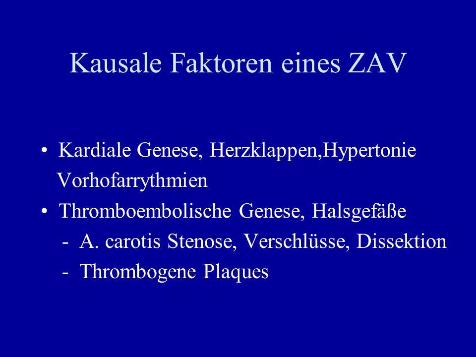 Kausale Faktoren eines ZAV