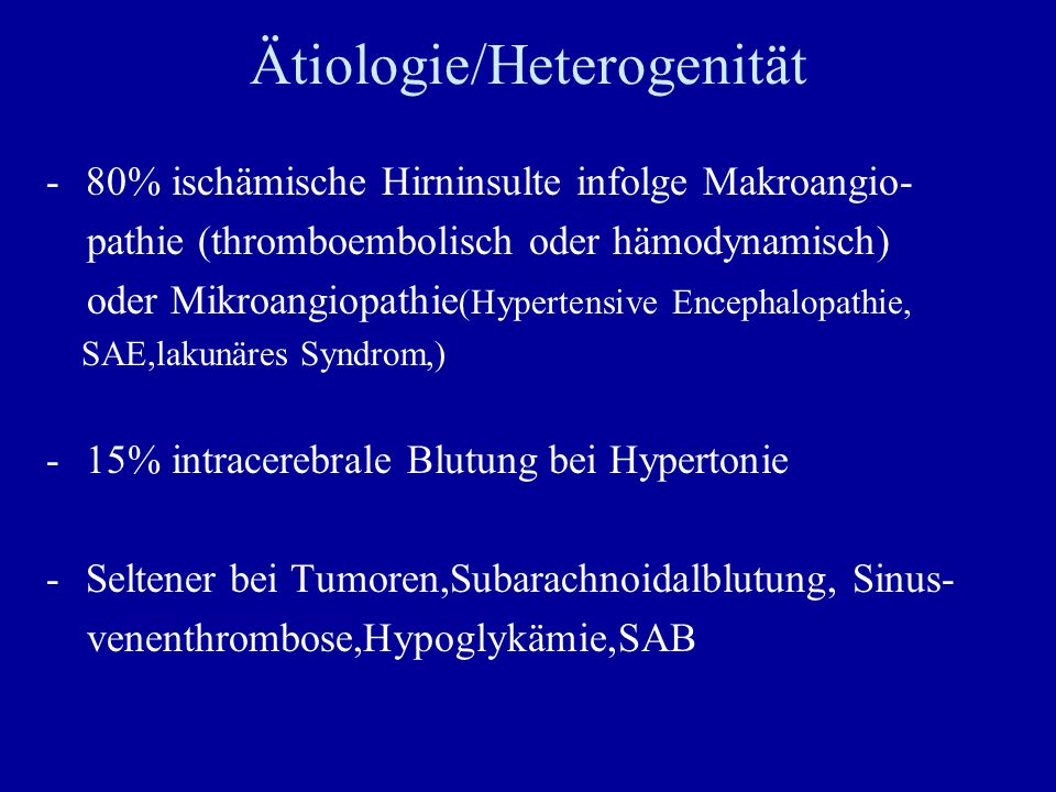 Ätiologie/Heterogenität