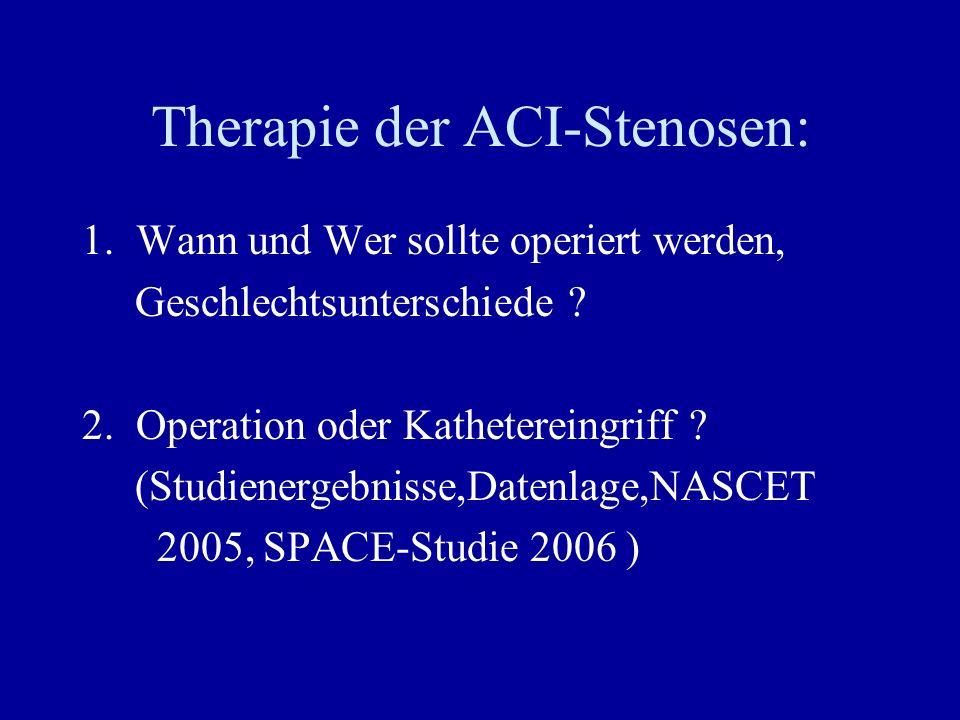 Therapie der ACI-Stenosen: