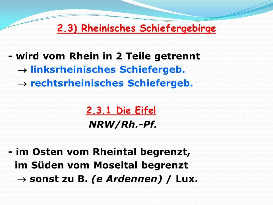 2.3) Rheinisches Schiefergebirge