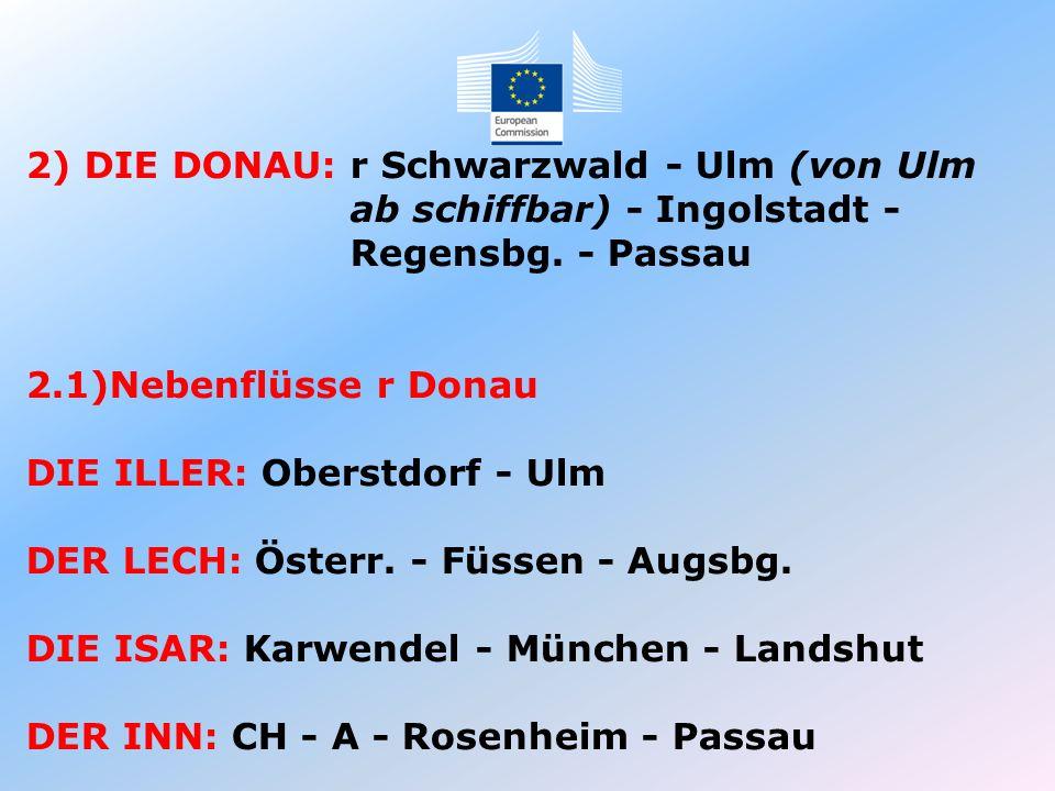 2) DIE DONAU: r Schwarzwald - Ulm (von Ulm