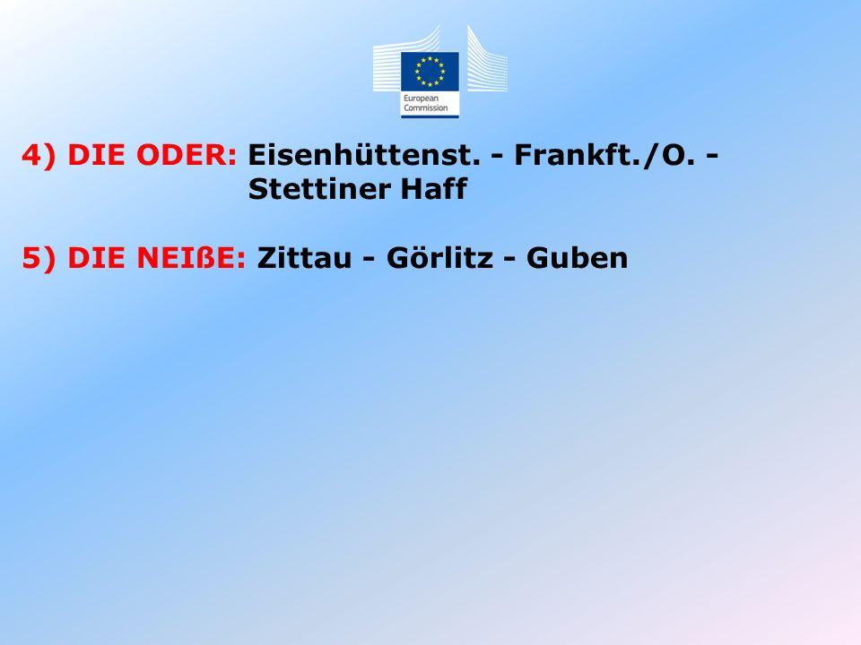 4) DIE ODER: Eisenhüttenst. - Frankft./O. -