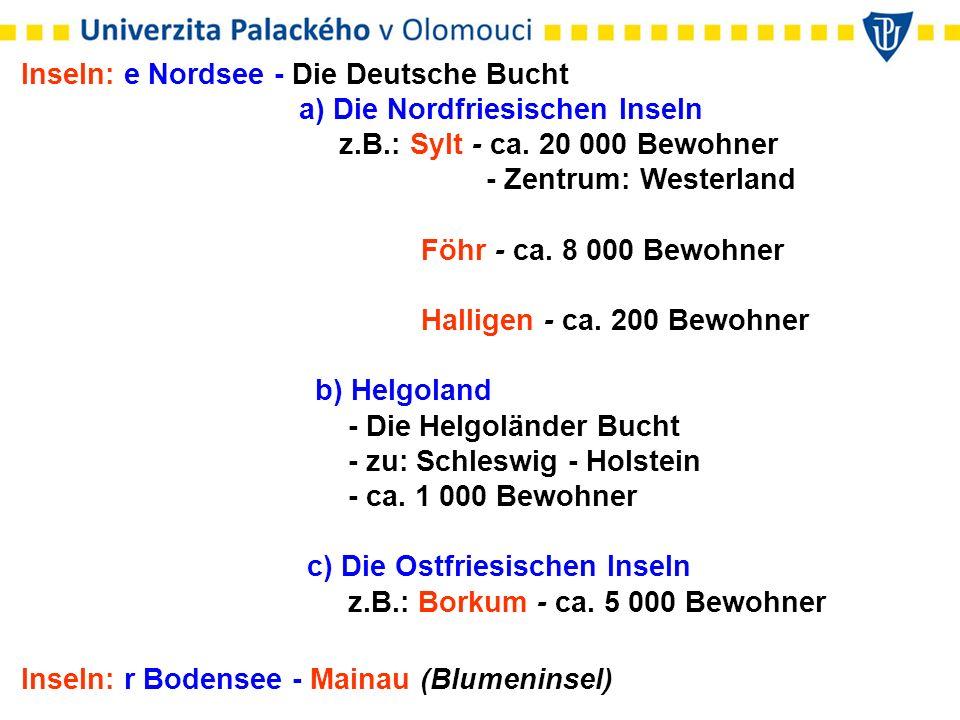 Inseln: e Nordsee - Die Deutsche Bucht