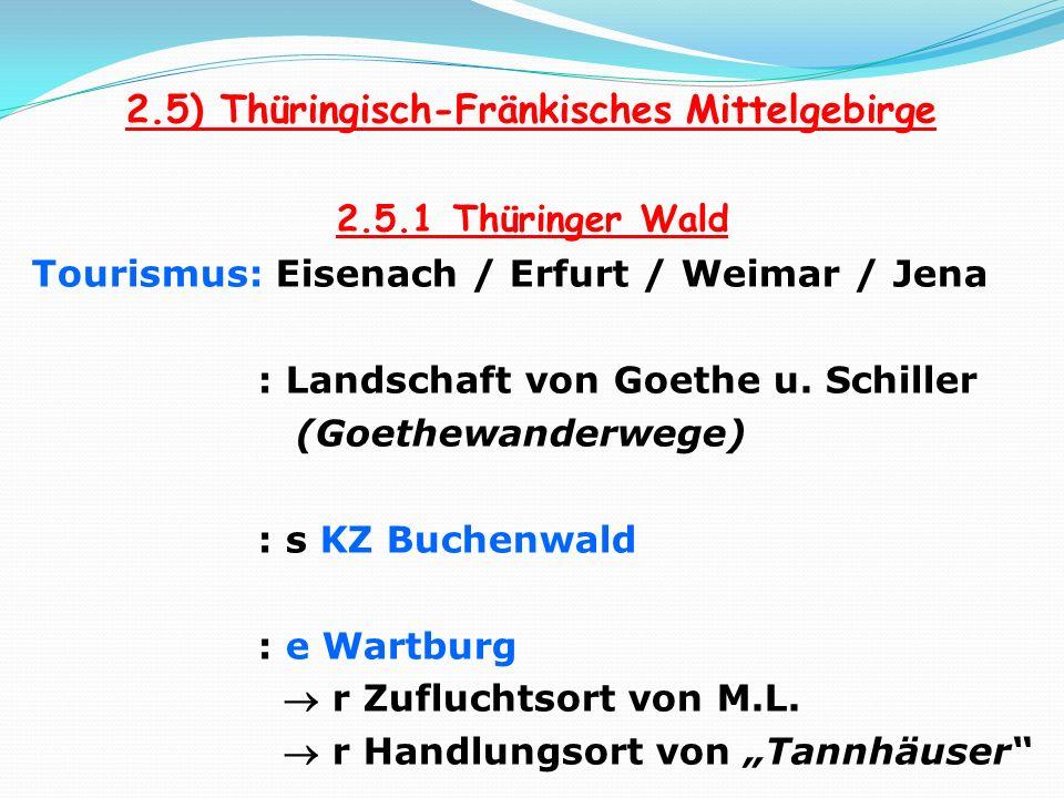 2.5) Thüringisch-Fränkisches Mittelgebirge