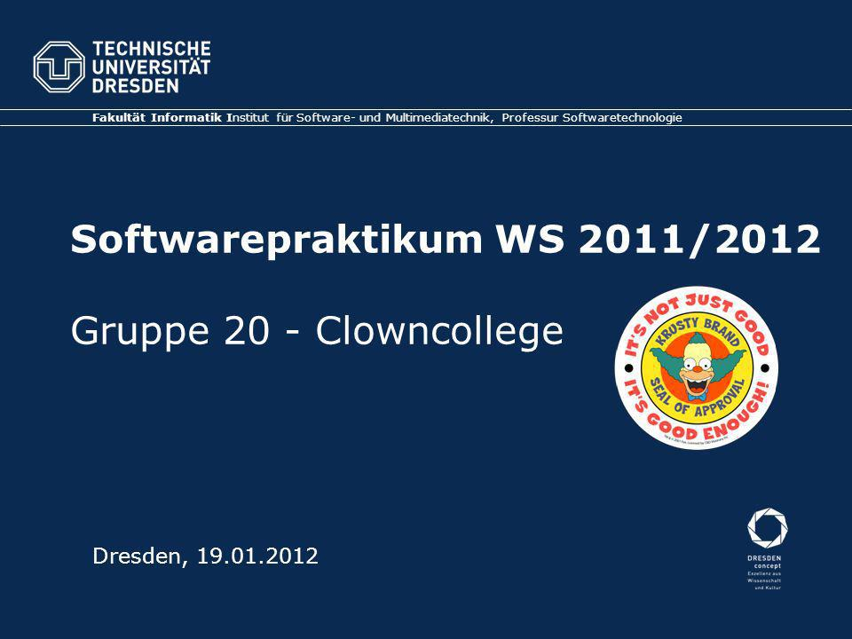 Softwarepraktikum WS 2011/2012 Gruppe 20 - Clowncollege