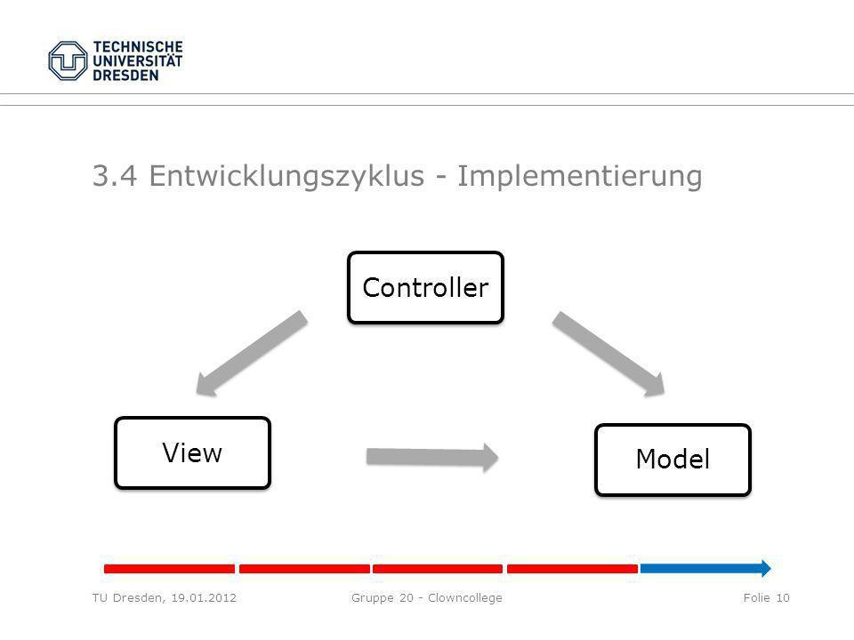 3.4 Entwicklungszyklus - Implementierung