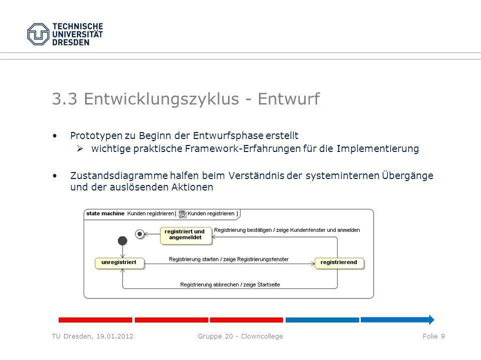 3.3 Entwicklungszyklus - Entwurf