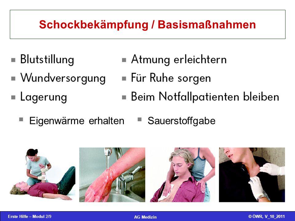 Schockbekämpfung / Basismaßnahmen