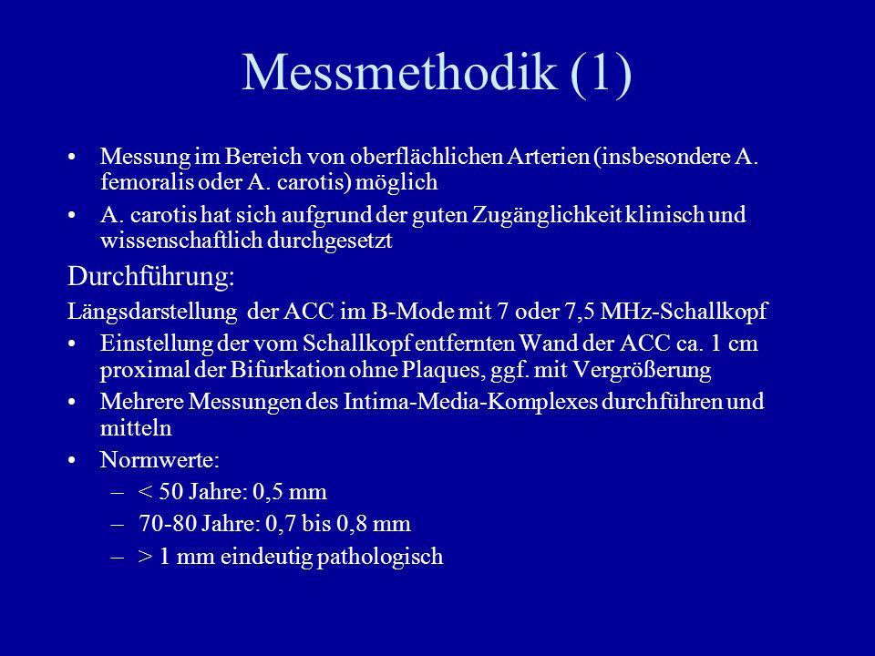 Messmethodik (1) Durchführung: