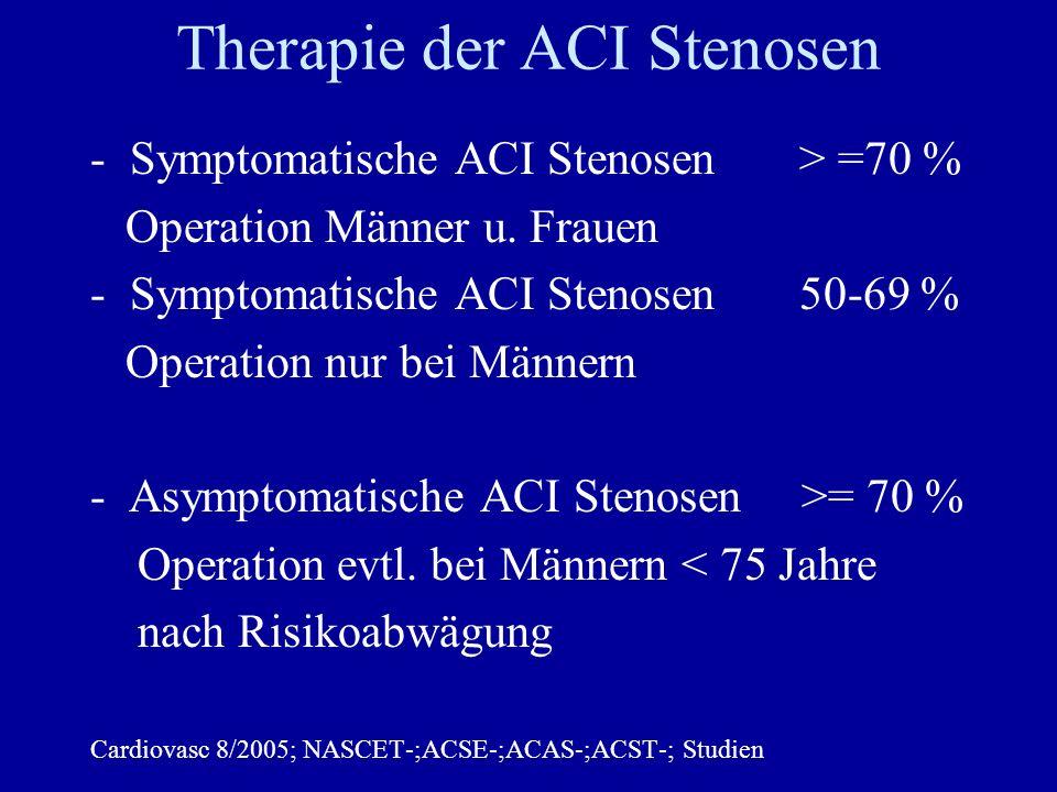 Therapie der ACI Stenosen