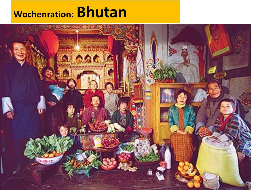 Wochenration: Bhutan