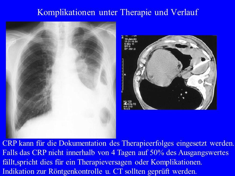 Komplikationen unter Therapie und Verlauf