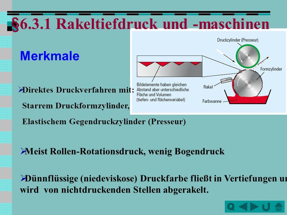 §6.3.1 Rakeltiefdruck und -maschinen
