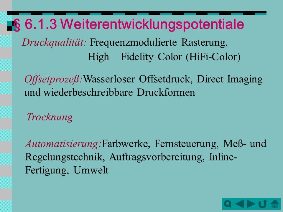 § 6.1.3 Weiterentwicklungspotentiale