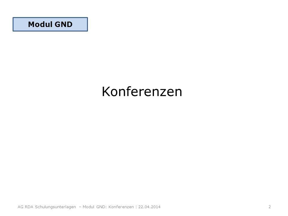 Modul GND Konferenzen.